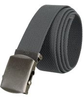 """5811 Military Belt Canvas, Antique Finish Buckle Web Belt - One Size fits all - 1-1/2"""" Wide - GRAY"""