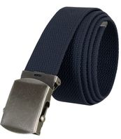 """5811 Military Belt Canvas, Antique Finish Buckle Web Belt - One Size fits all - 1-1/2"""" Wide - NAVY"""