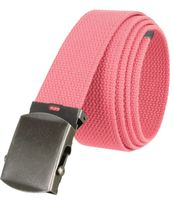 """5811 Military Belt Canvas, Antique Finish Buckle Web Belt - One Size fits all - 1-1/2"""" Wide - PINK"""