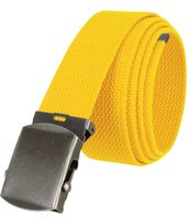 """5811 Military Belt Canvas, Antique Finish Buckle Web Belt - One Size fits all - 1-1/2"""" Wide - YELLOW"""