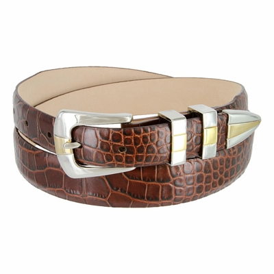 6096  Men's Designer Italian Leather Dress Belt