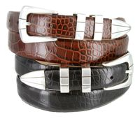 6096S Mens Italian Leather Designer and Dress Belt