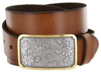 "8134G Western Full Grain Leather Casual Belt - 1 1/2"" Wide"