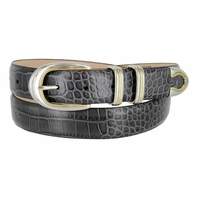 "8168 Two Tone Italian Designer Leather Dress Belt - 1 1/8"" Wide"