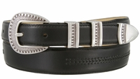 8209 Silver Aztec Design Smooth Lacing Genuine Leather Belt - FINAL SALE