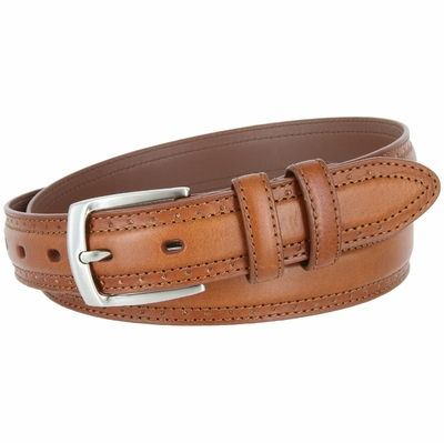 "BL013 Genuine Leather Professional Dress Belt - 1 1/8"" Wide TAN"