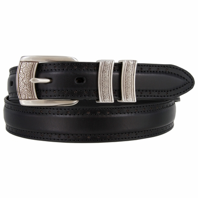 "BL013-SRTP Genuine Leather Professional Dress Belt - 1 1/8"" Wide"