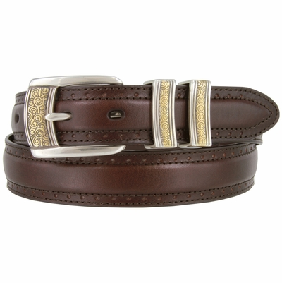 "BL013-SRTPGP Genuine Leather Professional Dress Belt - 1 1/8"" Wide"