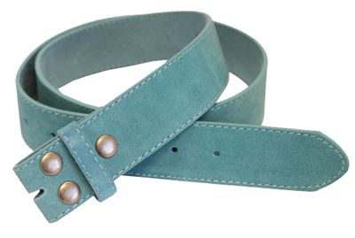 "5066 Blue Suede Leather Belt Strap 1 1/2"" Wide"
