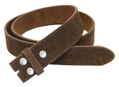 "5066 Brown Suede Leather Belt Strap 1 1/2"" Wide"
