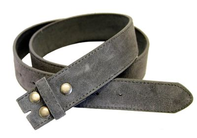 "5066 Gray Suede Leather Belt Strap 1 1/2"" Wide"