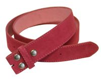 "5066 Hot Pink Suede Leather Belt Strap 1 1/2"" Wide"