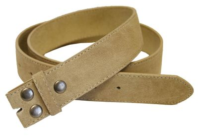 "5066 Tan Suede Leather Belt Strap 1 1/2"" Wide"