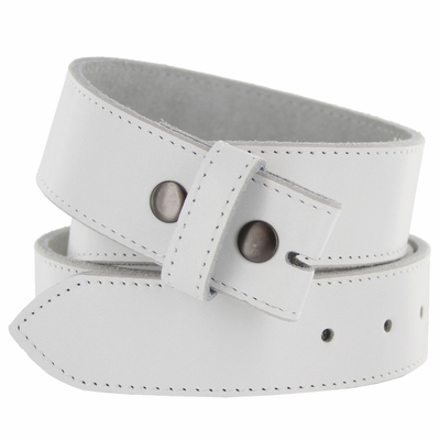"1200 White Full Grain Leather Belt Strap - 1 1/2"" wide"