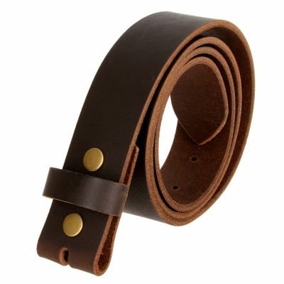 1300 Brown Belt Strap Buffalo Full Grain Matte Finish Leather