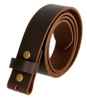 1300XL Brown Belt Strap Buffalo Full Grain Matte Finish Leather Size 48 thru 60