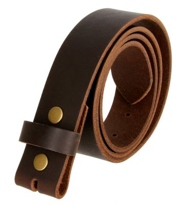 BS1300 Brown Belt Strap Buffalo Full Grain Matte Finish Leather Size 48 thru 60