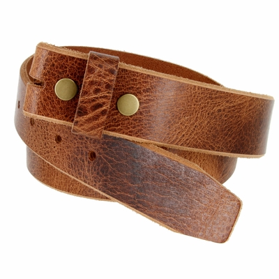 "5304 Genuine Full Grain Vintage Leather Belt Strap - 1 1/2"" TAN"