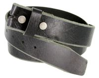 "5304 Genuine Full Grain Vintage Leather Belt Strap - 1 1/2"" Wide BLACK"