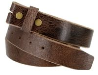 "5304 Genuine Full Grain Vintage Leather Belt Strap - 1 1/2"" wide BROWN"