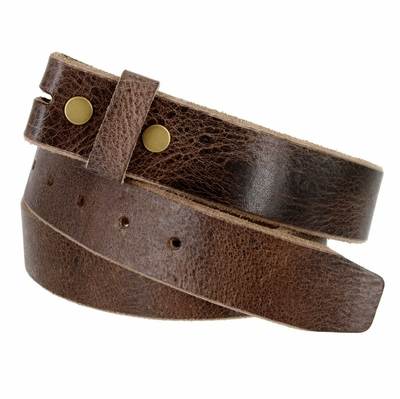 "BS304 Genuine Full Grain Vintage Leather Belt Strap - 1 1/2"" wide BROWN"