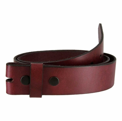 "5055 Burgundy Full Grain Leather Belt Strap - 1 1/2"" wide"