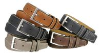 "Classic Genuine Leather Office Career Dress Belt - 1 3/8"" wide"