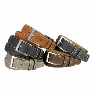 "BS111 Classic Genuine Leather Office Career Dress Belt - 1 3/8"" wide"