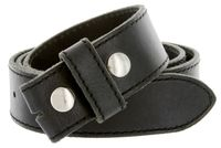 "5051 One Piece 100% Full Genuine Leather Belt Strap 1-1/2"" (38mm) - BLACK"