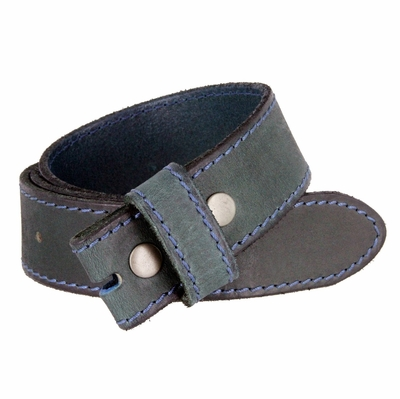 "5051 One Piece 100% Full Genuine Leather Belt Strap 1-1/2""- MOSS GREEN"
