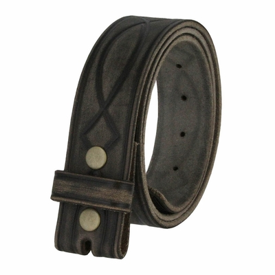 "382000 Tooled Genuine Full Grain Leather Belt Straps - 1 1/2"" Wide"