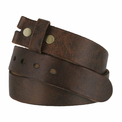 "384002 Genuine Full Grain Vintage Distressed Leather Belt Strap - 1 1/2"" WIDE"