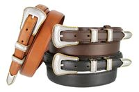 5539 Gold Rope Edge Men's Genuine Leather Ranger Belt