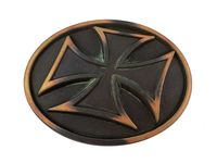 HA 0534 Vintage Copper Cross Belt Buckle