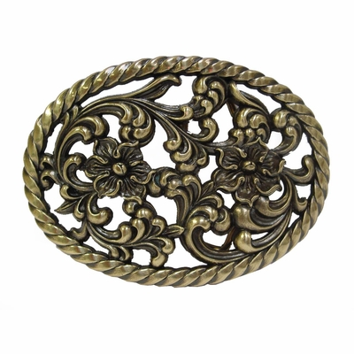 HA0131 Brass Finish Womens Belt Buckle