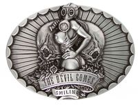 HA1439 Devil Comes Smiling Belt Buckle