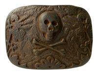 HA2335 Vintage Copper Skull Punk Belt Buckle