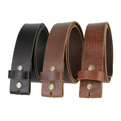 "5005 Hand Cut Hand Made One Piece Genuine Full Leather Belt Strap Made in USA 1-1/2"" Wide"