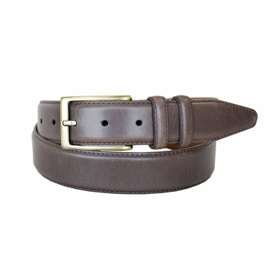 "1512-LJ Men's Smooth Leather Dress Belt 1-3/8"" Wide - Brown"