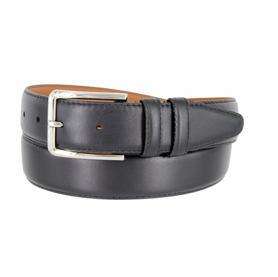 "Men's Smooth Leather Dress Belt 1-3/8"" Wide - Black"