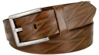 "Lejon Diamond Pattern Italian Saddle Leather Casual Dress Belt 1-1/2"" wide - 18622"