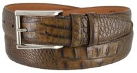 2053-LJ Italian Calfskin American Alligator Embossed Belt 1-3/8 Wide Made In USA