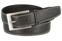 "2588 Men's Double Stitched Edges and Stippled Leather Dress Golf Belt 1-1/4"" Wide"