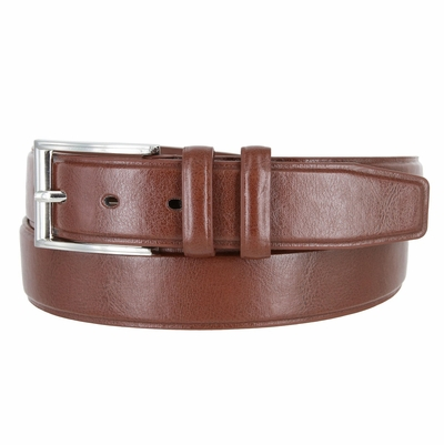 "JS258 Men's Genuine Leather Casual Dress Belt - 1 3/8"" wide BROWN"