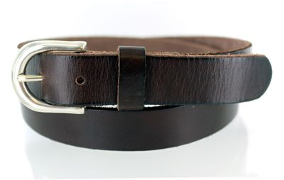 "Men's Jeans Leather Belt - 1 1/8"" wide"