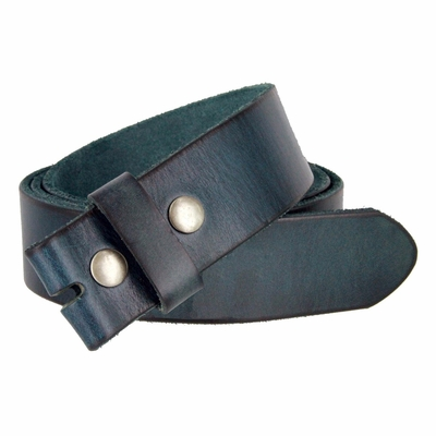 "4040 Men's Vintage Full Grain Cowhide Leather Casual Dress Belt Strap 1-1/2"" Wide - Metallic Blue"