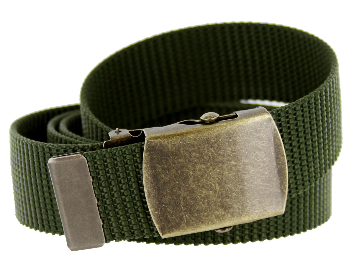 Military Army Canvas Web Belt 1. 25 inch - Olive 9662ed02d4c