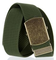 Military Army Canvas Web Belt 1. 5 inch - Olive