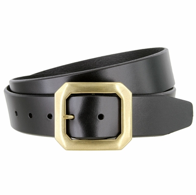 "1395 Casual Dress Feather Edge Solid Leather Belt - 1 1/2"" wide - 3 Colors Available"