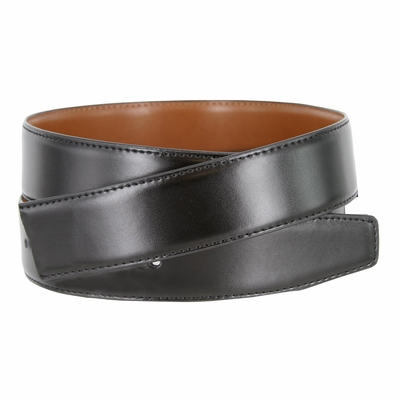"160501 Reversible Genuine Leather Dress Casual Belt Strap 1 3/8"" (35mm) wide - Black/Tan"